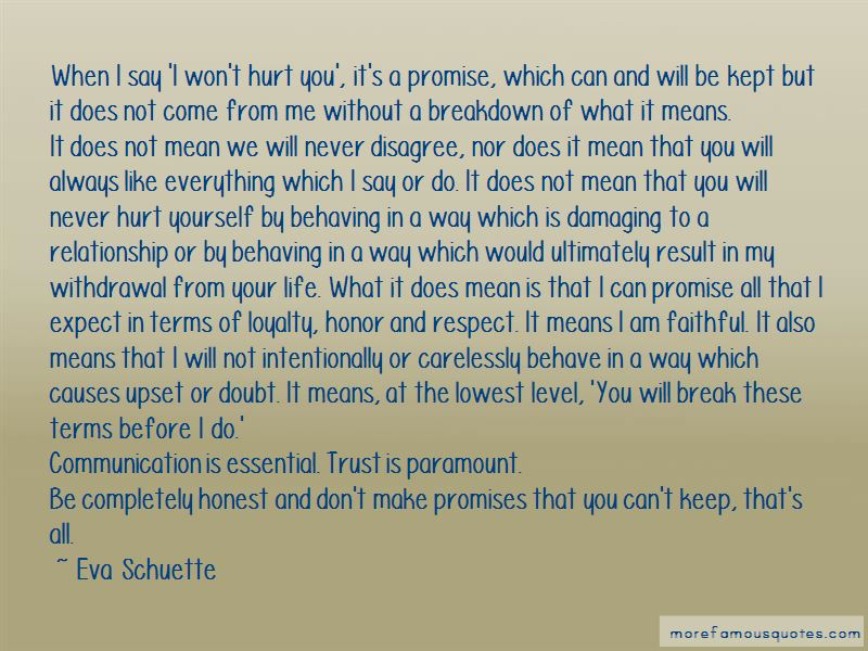 I Promise To Never Hurt You Quotes