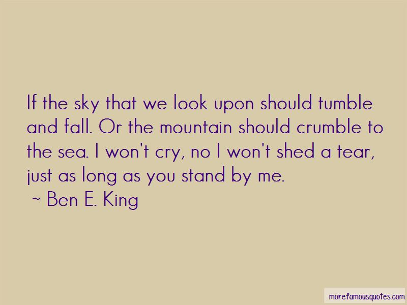I Won't Shed A Tear Quotes