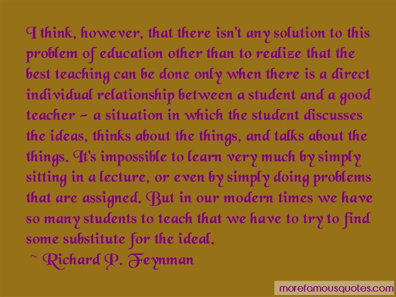 modern teacher and student relationship quotes