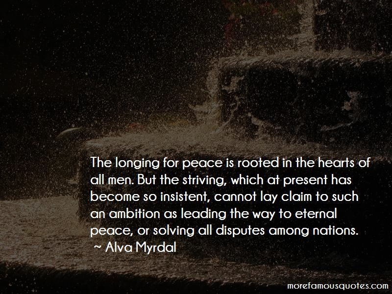 Longing For Peace Quotes