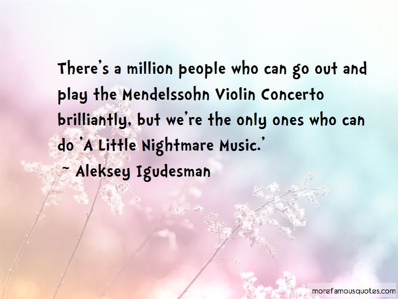 Mendelssohn Violin Concerto Quotes