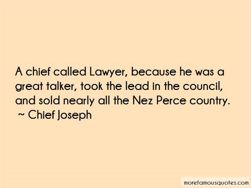 Nez Perce Quotes