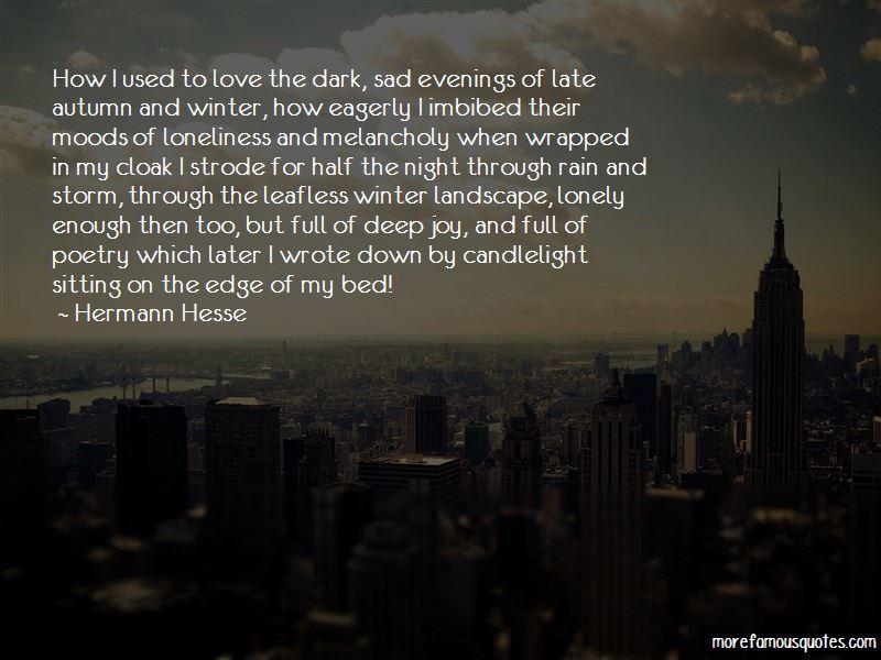Night Rain Love Quotes