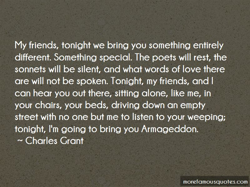Not Going Out Tonight Quotes