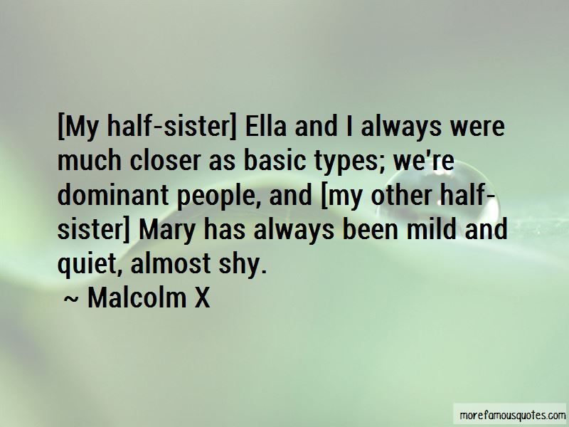 Other Half Sister Quotes