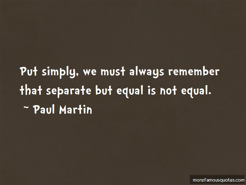 Separate But Not Equal Quotes Pictures 3