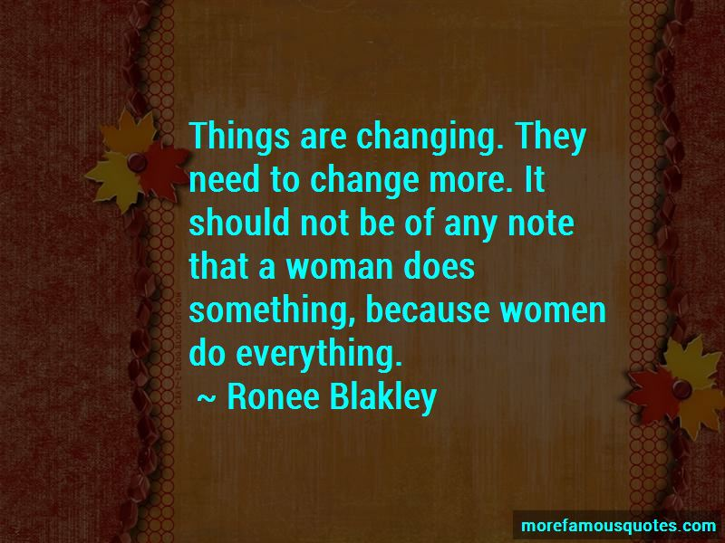 Things Are Changing Quotes