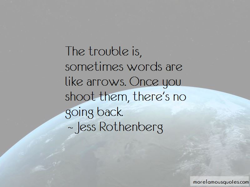 Words Are Like Arrows Quotes