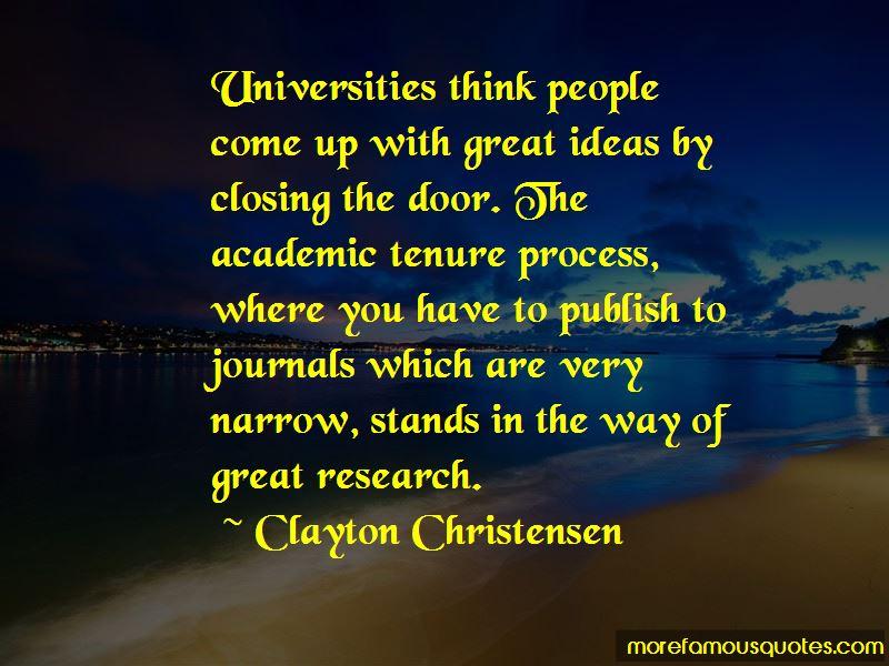 Academic Tenure Quotes