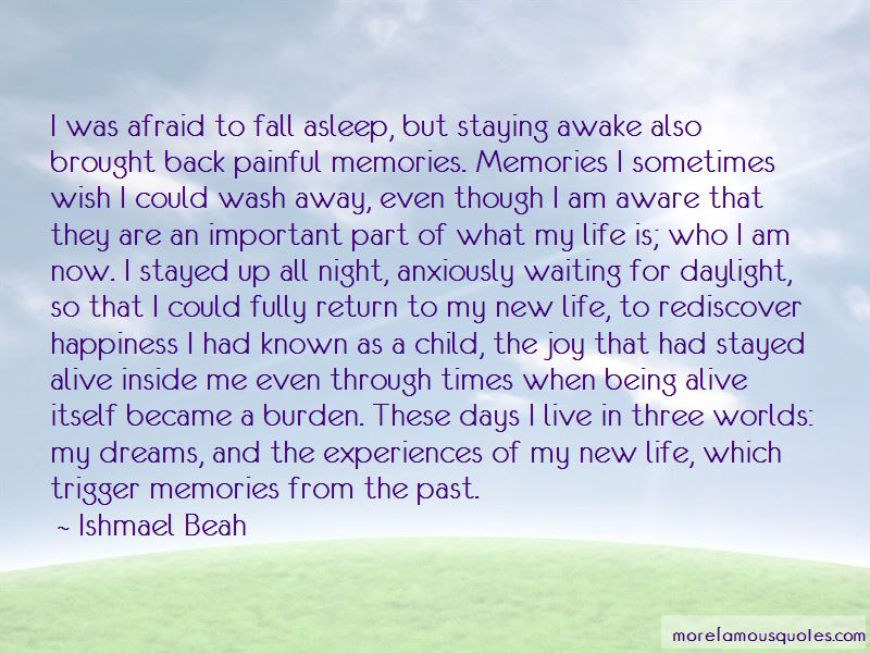 Afraid To Fall Asleep Quotes