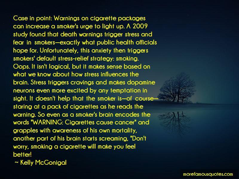 Awareness Of Smoking Quotes