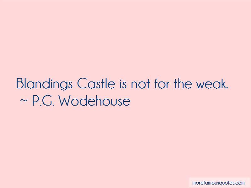 Blandings Castle Quotes