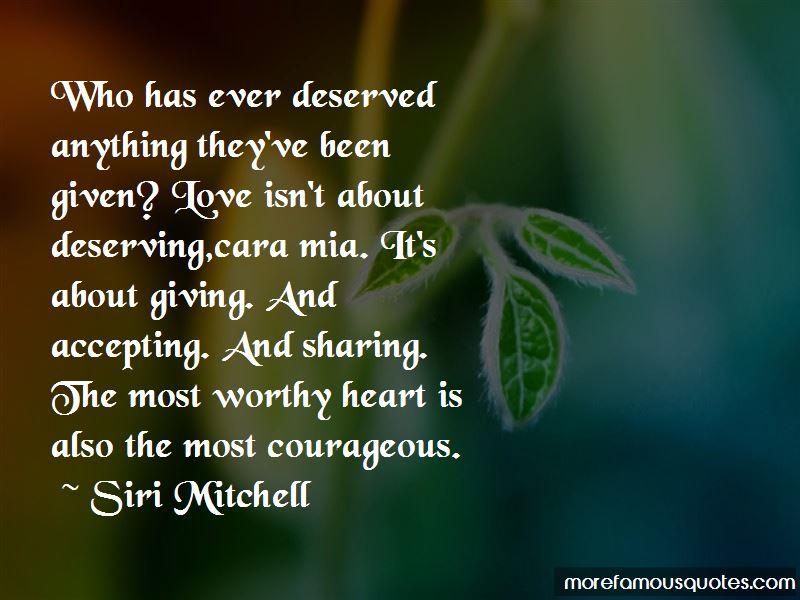 a heart most worthy mitchell siri