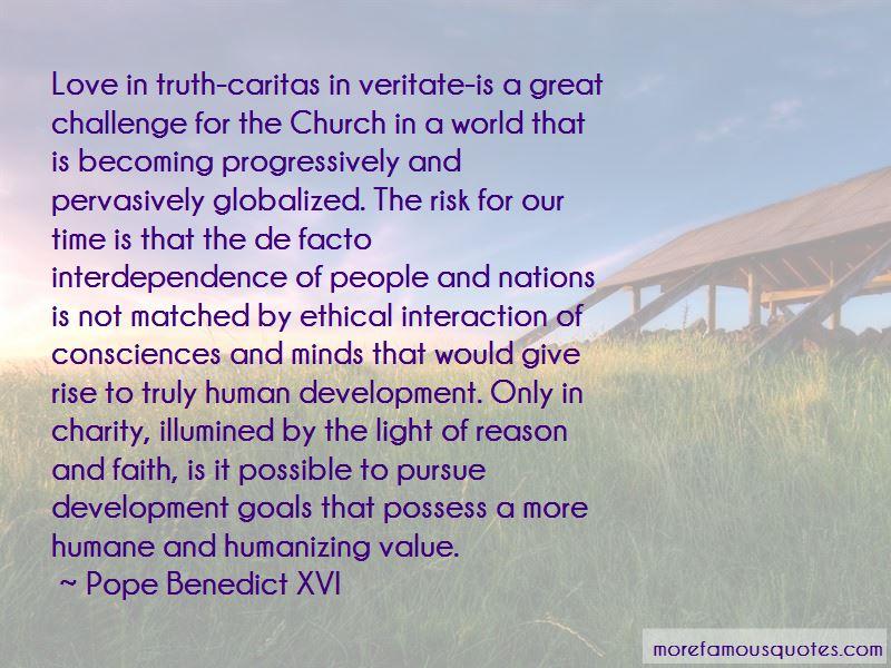 Caritas In Veritate Quotes