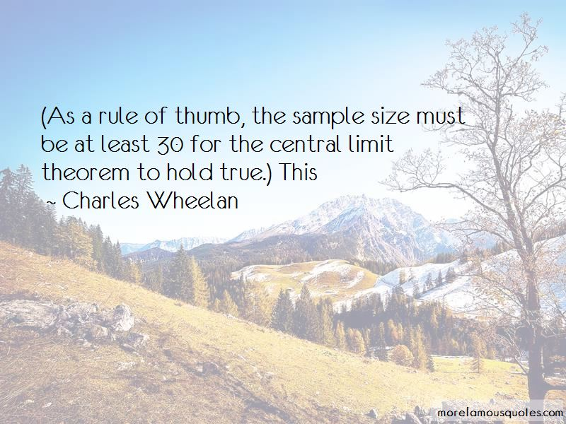 Central Limit Theorem Quotes