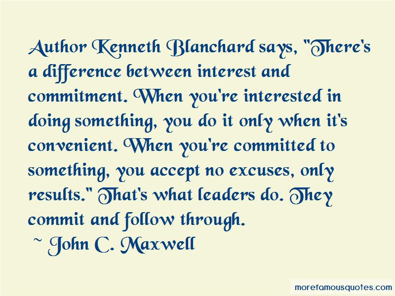 Commitment And Follow Through Quotes