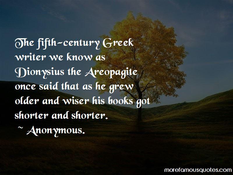 Dionysius Areopagite Quotes