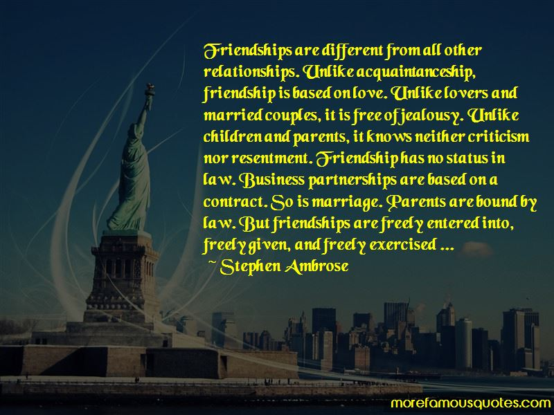 Friendship Is Based On Quotes