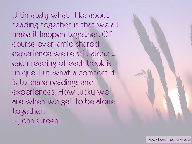 How Lucky We Are Quotes Pictures 3