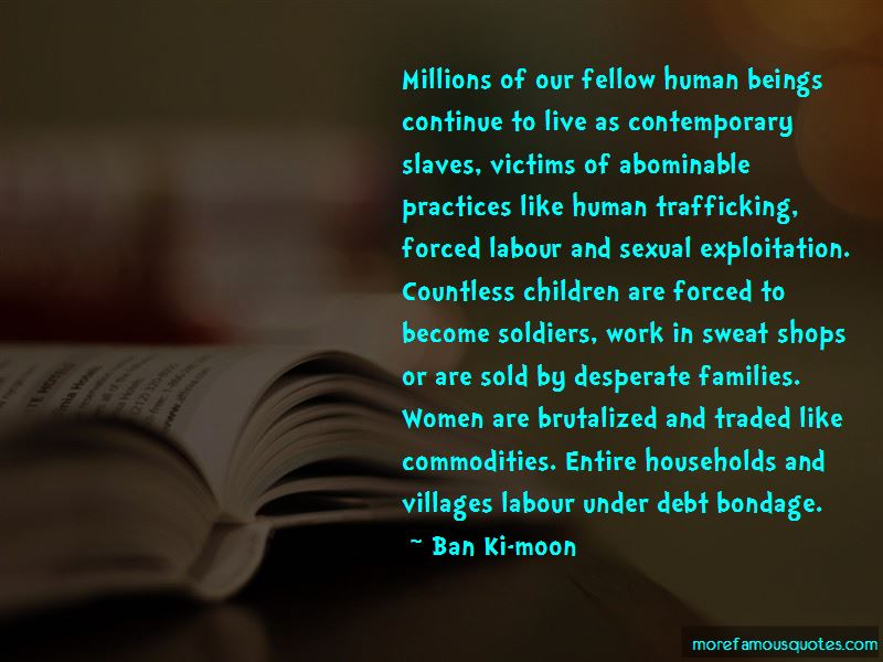 Human Trafficking Victims Quotes