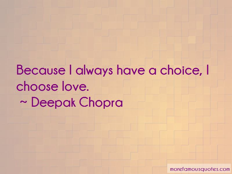 I Choose Love Quotes