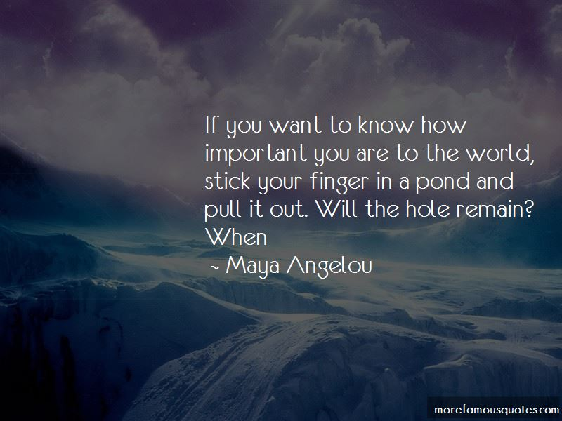 Important You Are Quotes