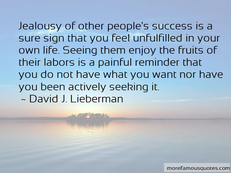 Jealousy Of Other People's Success Quotes