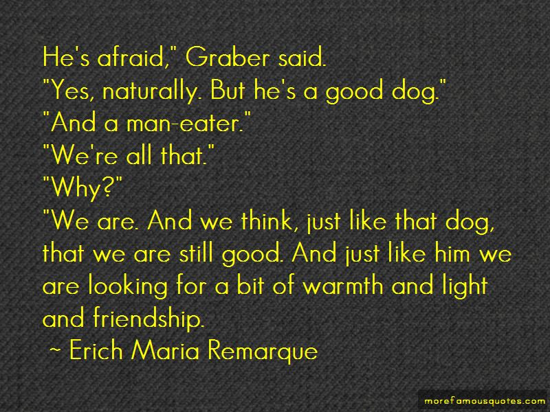 Man Dog Friendship Quotes