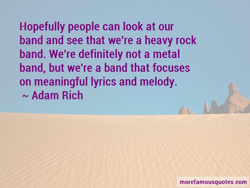 Metal Band Lyrics Quotes Top 2 Quotes About Metal Band Lyrics From