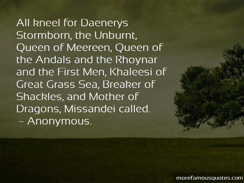 Mother Of Dragons Quotes