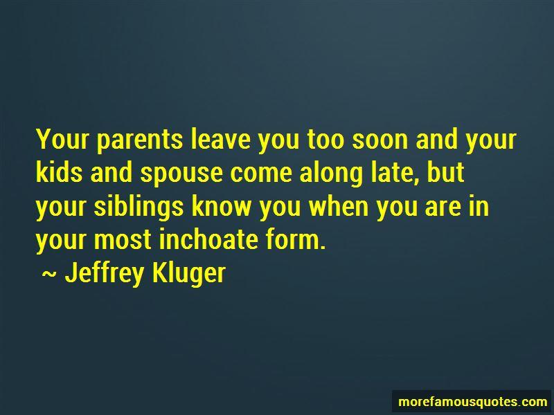 Parents Leave Quotes