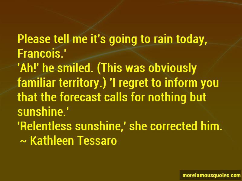Rain Today Quotes