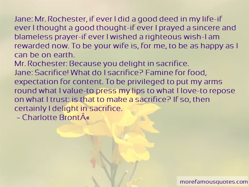 Sacrifice For Wife Quotes