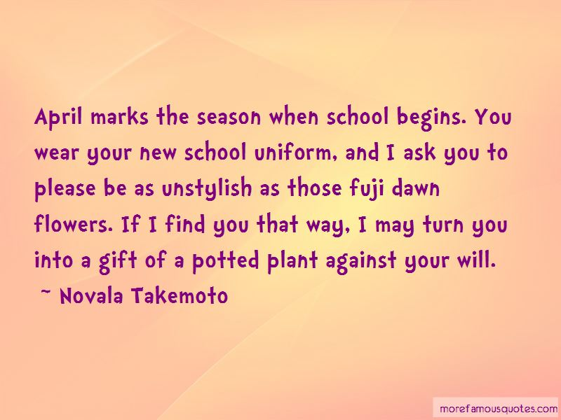 School Uniform Against Quotes