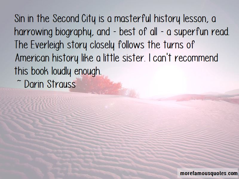 Sin In The Second City Quotes