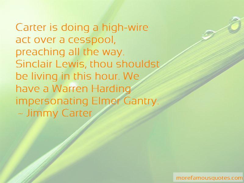 Sinclair Lewis Elmer Gantry Quotes