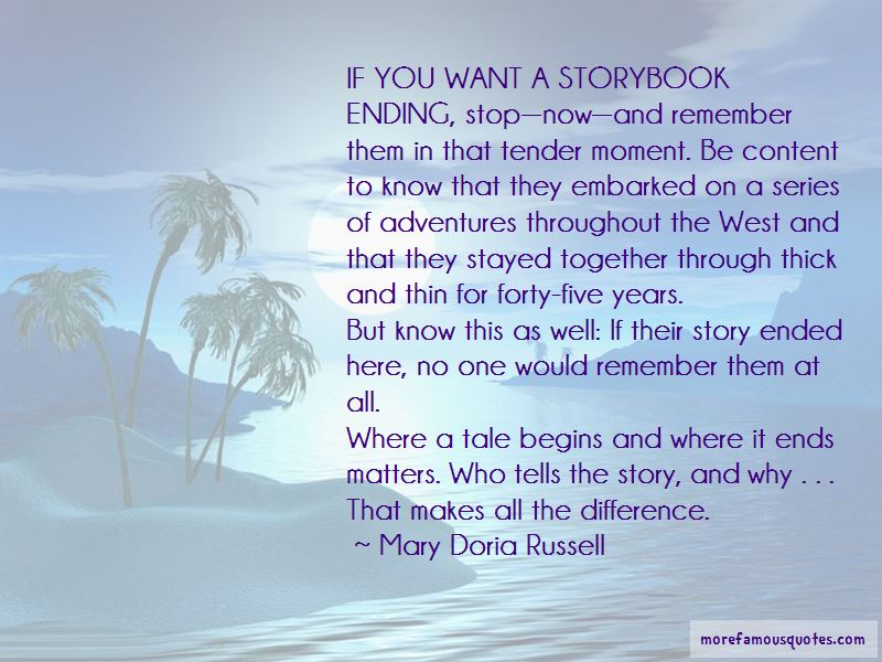 Storybook Ending Quotes