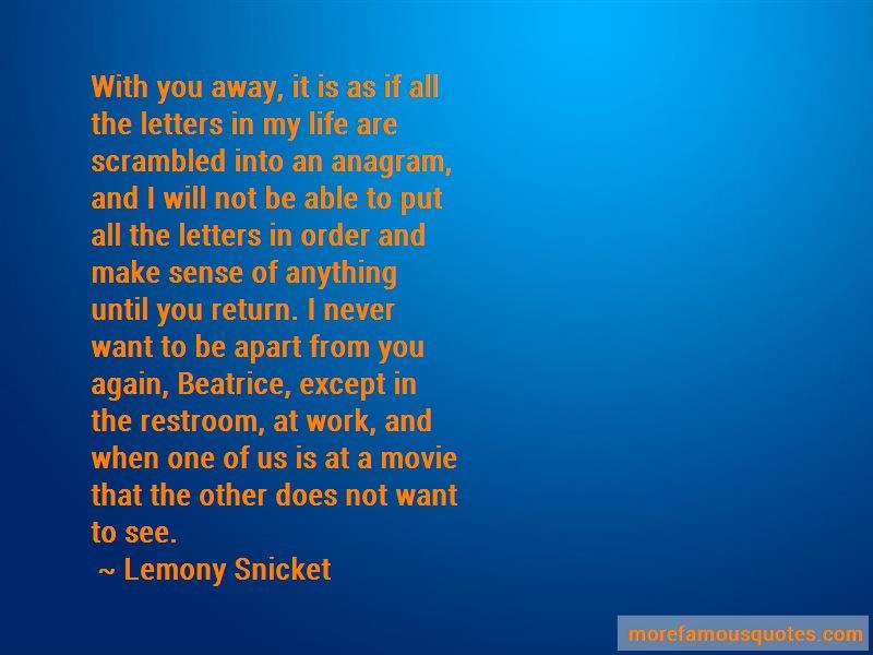 Until You Return Quotes