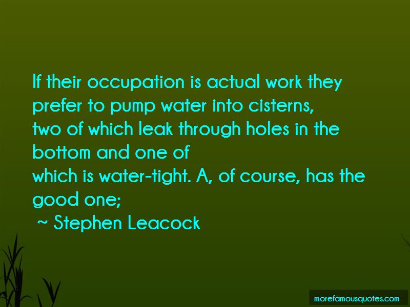 Water Leak Quotes Pictures 2