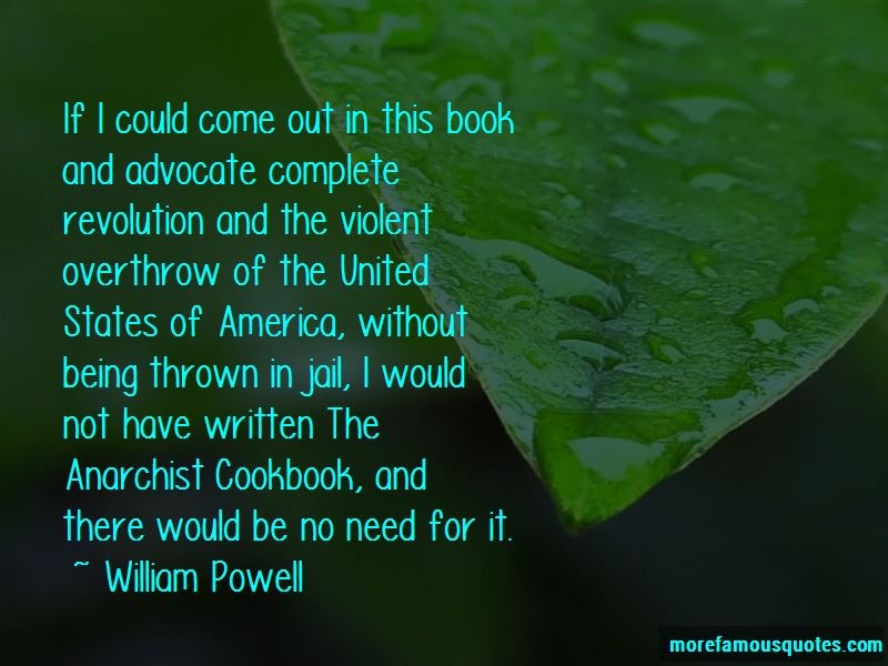 william powell the anarchist cookbook