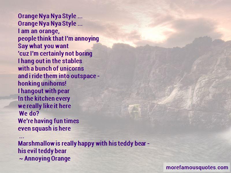 Annoying Orange Marshmallow Quotes