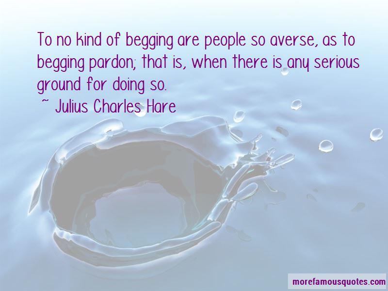 Begging Pardon Quotes