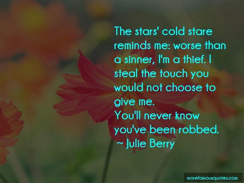 Cold Stare Quotes