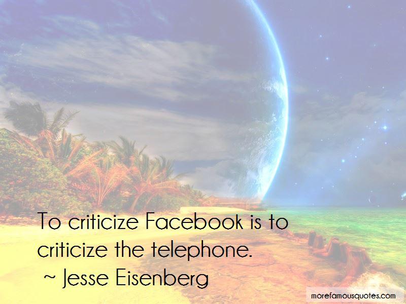 Criticize Facebook Quotes