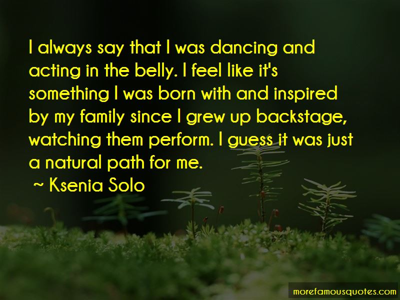 Dancing And Acting Quotes
