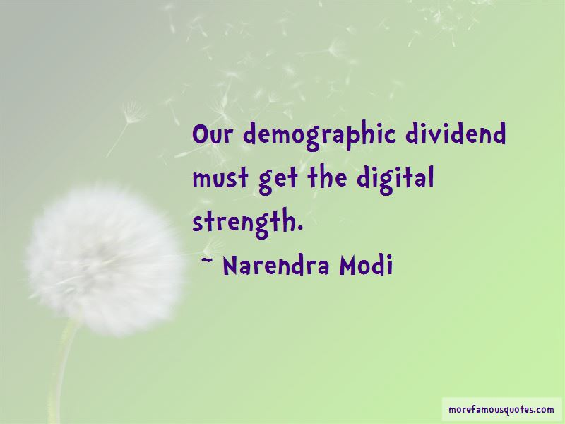 Demographic Dividend Quotes Pictures 2