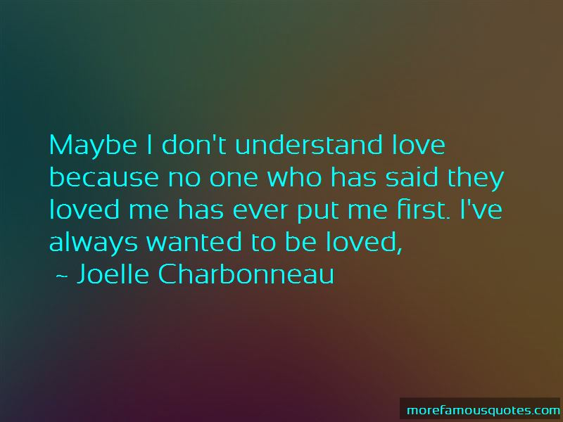 Don't Understand Love Quotes