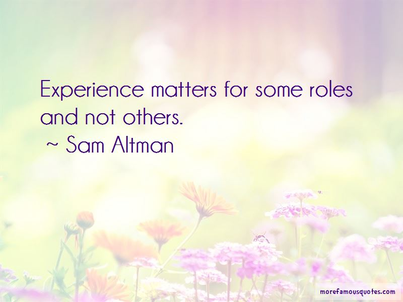 Experience Matters Quotes Pictures 2