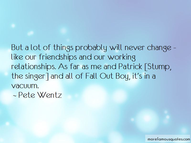 Fall Out Boy Patrick Stump Quotes: top 1 quotes about Fall ...
