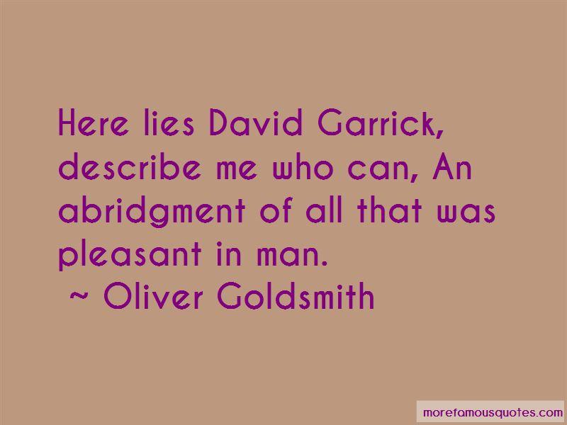 Garrick Quotes
